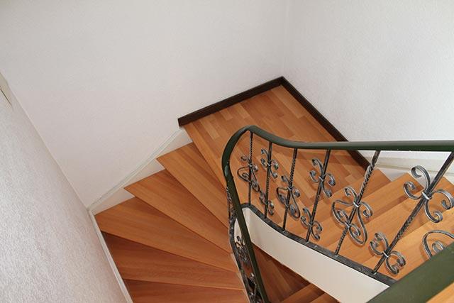 Treppenlauf aus Buche Massivholz